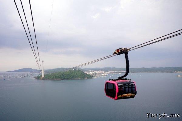 Канатная дорога на острове Фукуок (Hon Thom Cable Cars)